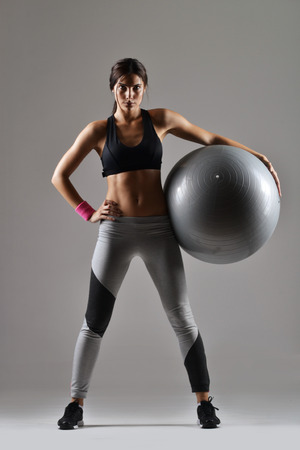 beautiful fitness woman working out Stock Photo