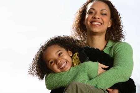 mama e hija: Madre y el Ni�o  Foto de archivo