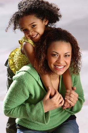 african american mother and daughter: Mother & Child Stock Photo