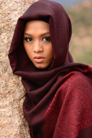 イスラム教徒の少女 写真素材