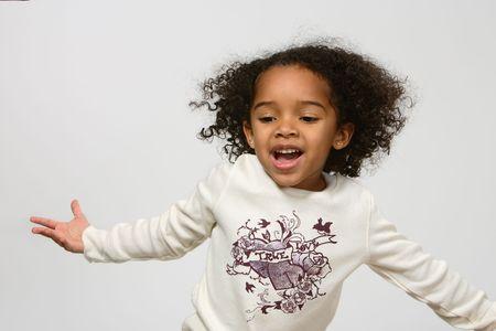 little girl dancing: Child