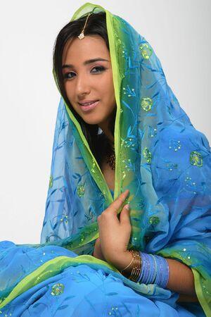 blue eyes girl: Indian Girl