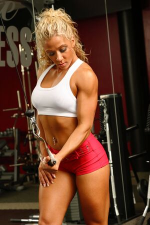 female bodybuilder: Female bodybuilder Stock Photo