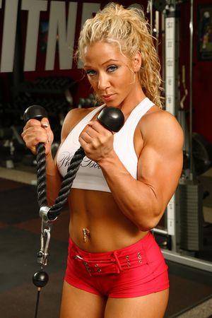 Female bodybuilder Stock Photo