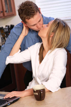 passionate kissing: Young couple kissing