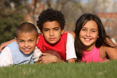 Multirracial grupo de niños  Foto de archivo - 2995442