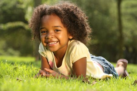 american children: Happy African American Child
