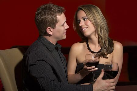 Romantic Date in a Restaurant Stock Photo - 4468210