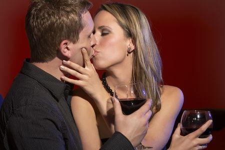 Romantic Date in a Restaurant Stock Photo - 4468214