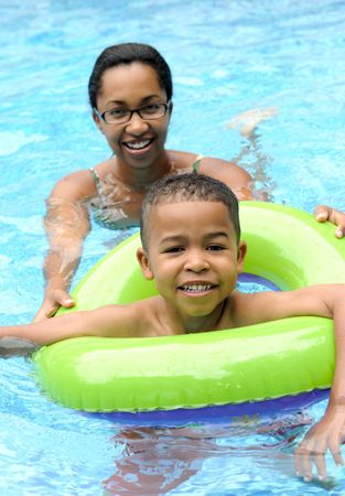 Mother and child in a swimming pool Stock Photo - 5247150