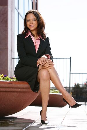African American Business Woman Stock Photo