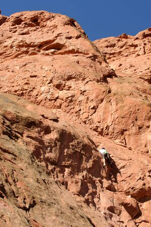 rockclimb: Rock Climber Stock Photo