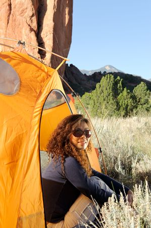 Camping In the Rocky Mountains Stock Photo - 7888623