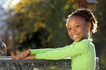 Happy African American Child photo
