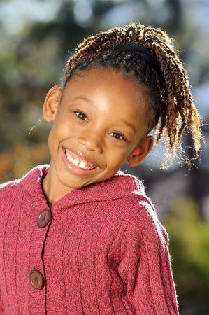 Gelukkig Afrikaanse kind  Stockfoto