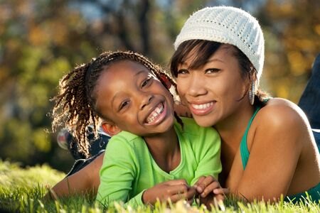 African American mother and child  Stock Photo