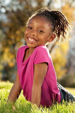 afro girl: Happy Afro girl