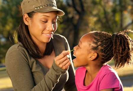 Playful Mother and Daughter Stock Photo - 8378909