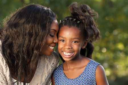 happy african: Happy Mother and Child spending time together
