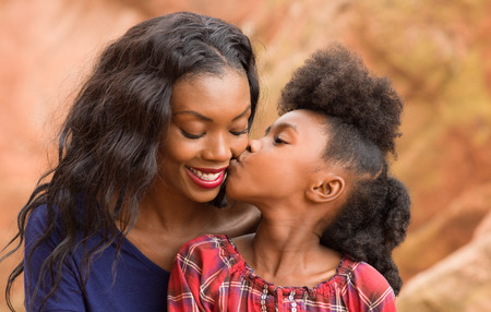 african mother: Happy Mother and Child spending time together
