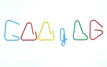 google chrome: paper clip text the word google by handmade