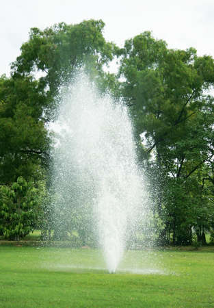 Fountains in park photo