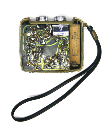 transistor: Vintage vieux poste de radio � transistor Banque d'images