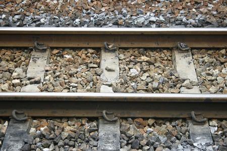 sleepers: Rails with concrete sleepers