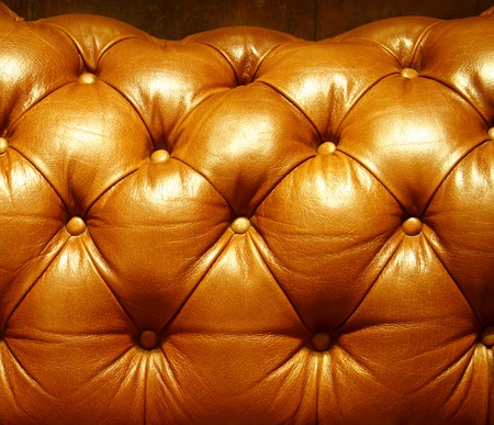 Leather  brown sofa vintage style photo