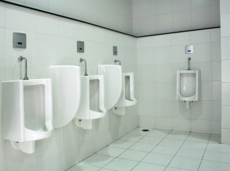 Urinals in public toilet  Stock Photo - 23407103