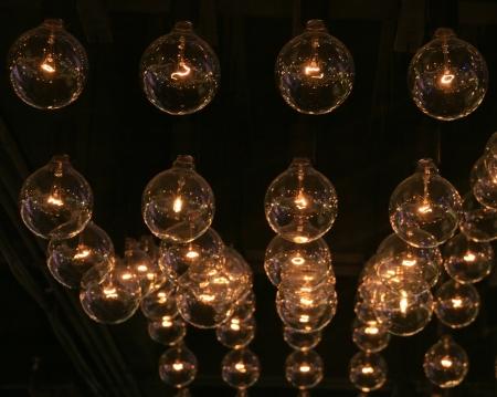 string of lights for christmas Standard-Bild