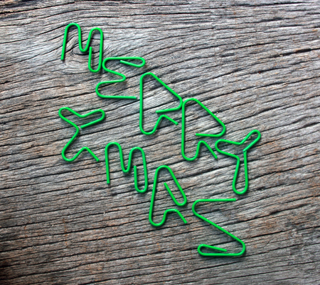 paper clip text the word merry xmas by handmade photo