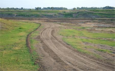 vacant land ,  dirt road