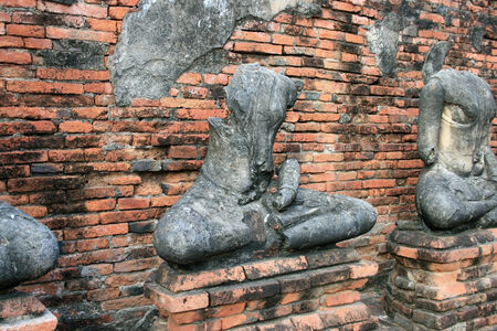 image of buddha be ruined photo
