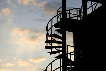 spiral iron staircase photo