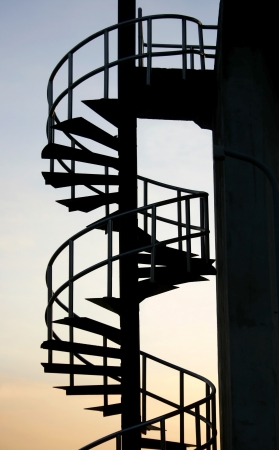 spiral iron staircase photo