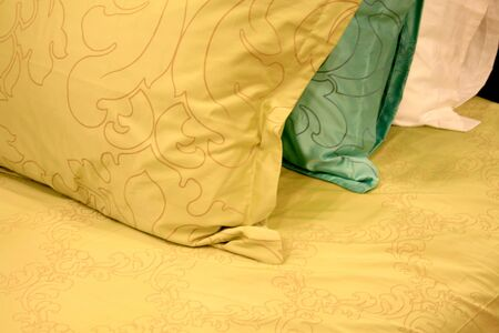 bedchamber: pillows on a bed