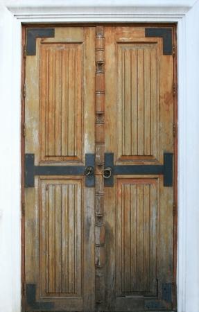 old wood door for background photo