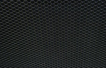 Black iron speaker grid texture Stock Photo