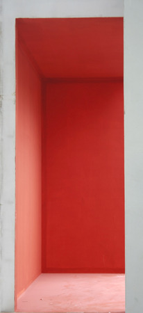 door casing: red entrance only