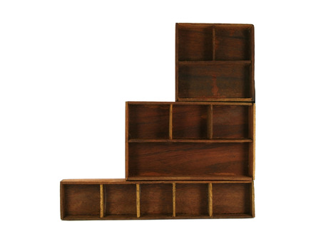 Empty wood shelf photo