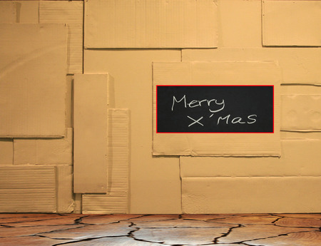 Background of paper wall with merry xmas texture photo