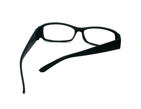 rimmed: black glasses isolated on a white background
