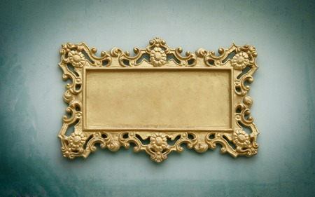 Metal sign plate with frame