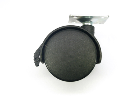 casters: Plastic wheels for furniture, made of black plastic