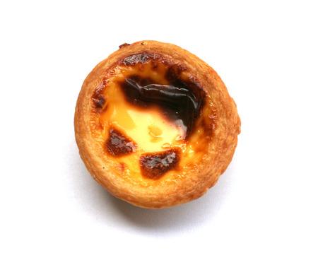 egg tart isolated on white Stock Photo