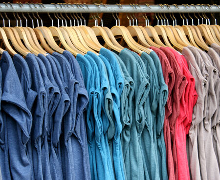 T-shirts with different colors photo