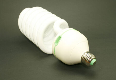 efficient: energy efficient light bulb isolated Stock Photo