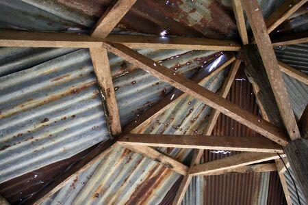 rusty: Rusty Zinc grunge roof