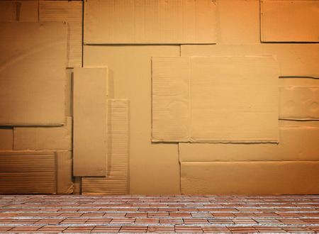 corrugation: Background of paper wall texture